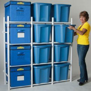 garage storage bin system