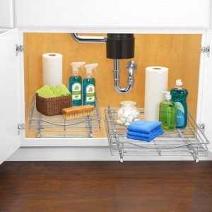 slide out kitchen cabinet organizer #kitchencabinetorganizer
