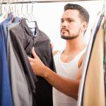 men's closet organization